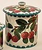 Wemyss large preserve jar and cover hand decorated