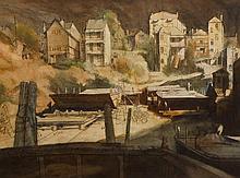Brian Dunlop (1938-2009) Balmain Landscape