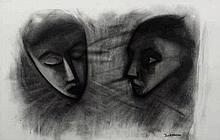 Robert Dickerson (b. 1924) Two Faces