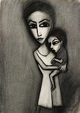 Robert Dickerson (b. 1924) Mother and Child, c.1965