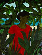 Ray Crooke (b. 1922) Man In Garden, Yasawas, 1998