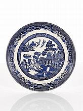 Partial Blue and White Dinner Service