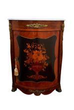 Pair of Napoleon III Kingwood Corner Cabinets