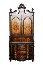 Venetian Painted Bureau Cabinet
