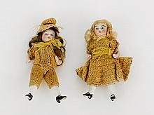 Pair of German Bisque Dolls, c. 1920 in original