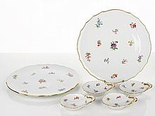 Meissen Two Circular Platters together with four