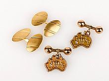 Australian Cufflinks 9ct gold cufflinks in the