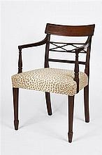 Set of Eight Regency Style Dining Chairs