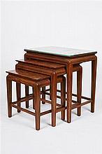 Australian Art Deco Burr Walnut Veneer Nest of Tables