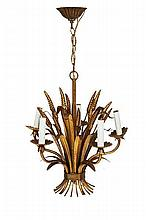 French Gilt-metal Chandelier