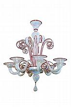 Murano Glass Eight-Light Chandelier