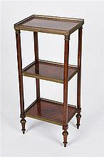 Gilt Metal Mounted Three-tier Whatnot