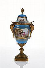 Sèvres Style Ormolu Mounted Porcelain Urn