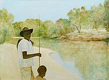 Ray Crooke (b. 1922) Lama River II, 1978 oil on