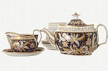 34 PIECE DERBY PARCEL GILT AND PAINTED TEA AND COFFEE SERVICE