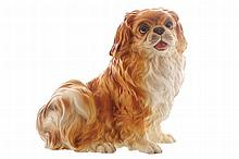 Victorian delph figure of a King Charles Spaniel