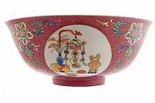 Chinese famille rose medallion bowl