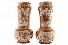 Pair of large nineteenth-century Japanese Satsuma vases
