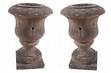 Pair of Georgian stone Estate urns