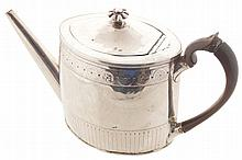 Early eighteenth-century crested silver teapot