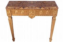 Pair of late nineteenth-century carved gilt-wood console tables