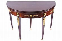 Napoleon III period ormolu mounted  fold-over tea table