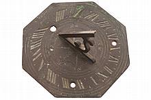 Eighteenth-century brass sun dial