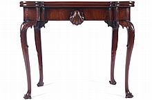 Irish eighteenth-century red-walnut games table, circa 1760
