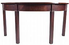 George III period mahogany D-end economy table