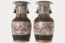 PAIR OF CHINESE QING PERIOD CRACKLE GLAZED VASES