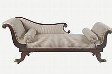 IRISH REGENCY PERIOD DOUBLE END CHAISE LONGUE