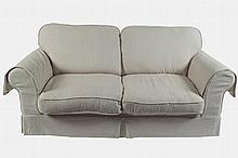 PAIR OF MODERN TWO-SEATER SETTEES