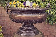 HEAVY BRONZE CAMPAGNA SHAPED URN