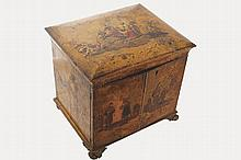 EIGHTEENTH-CENTURY LACQUERED COLLECTOR'S CABINET