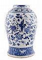 Large Qing period blue and white vase