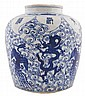 Chinese Qing period blue and white ginger jar
