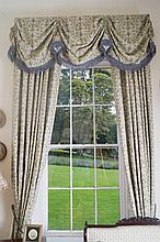 TWO PAIRS OF CURTAINS