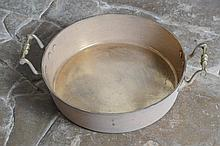 LARGE BRASS PRESERVING PAN