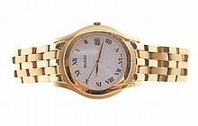 Gucci gold plated gent's watch and bracelet
