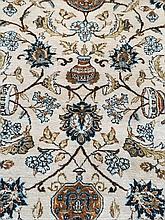 Persian silk Kashan rug