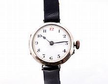 Early sterling silver Swiss wrist watch