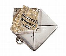 Silver stamp case, Birmingham 1916