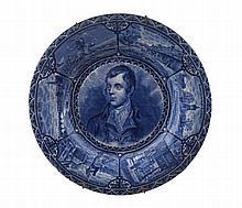 Blue and white portrait plates