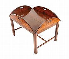 George III period mahogany butler's tray, circa 1800