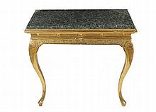 Pair of Edwardian carved giltwood console tables, circa 1910