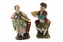 Pair of nineteenth-century Paris porcelain figures