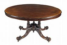 Victorian oval centre table