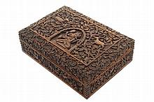Anglo-Indian sandalwood carved box
