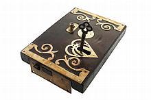 Rare George III mahogany door lock