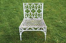 Nineteenth-century cast iron Gothic garden chair